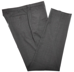 Incotex Dress Pants 100's Wool 44 60 Gray Solid 28PT0126