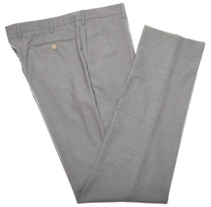 Incotex Dress Pants 100's Wool 42 58 Gray Solid 28PT0124