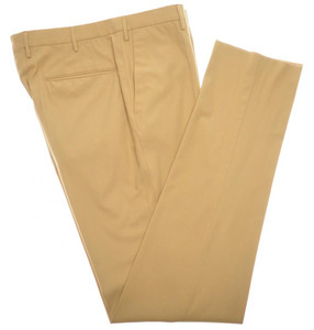 Incotex Casual Dress Pants Ice Gab Cotton 38 54 Brown Solid 28PT0146