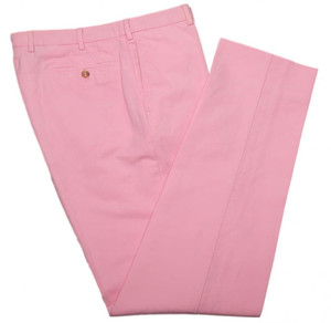 Incotex Casual Dress Pants ChinoLino Cotton Linen 36 52 Pink Solid 08PT0154