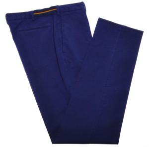 Incotex Casual Dress Pants Cotton Stretch 38 54 Purple Solid 28PT0152