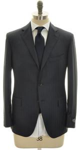 Belvest Suit 3B Wool 130's 40 50 Blue Stripe 50SU0107