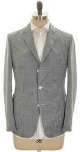 Boglioli 'Maxton' Trim Fit Sport Coat Jacket 3B Wool 38 48 Blue Check 24SC0132