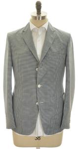 Boglioli 'Maxton' Trim Fit Sport Coat Jacket 3B Wool 36 46 Blue Check 24SC0131