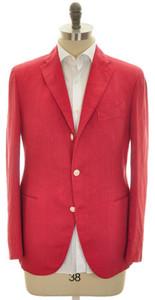 Boglioli 'K Jacket' Sport Coat 3B Linen 40 50 Red Solid 24SC0153