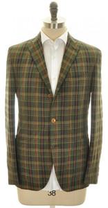 Boglioli 'Dover' Sport Coat Jacket 3B Cotton Linen 42 52 Green 24SC0170