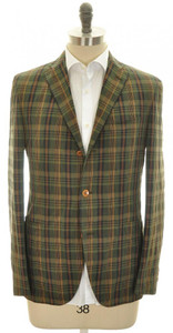 Boglioli 'Dover' Sport Coat Jacket 3B Cotton Linen 38 48 Green 24SC0166