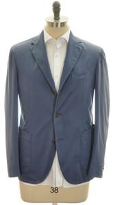 Boglioli 'Coat' Sport Coat Jacket 3B Cotton Stretch 46 56 Blue