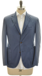 Boglioli 'Coat' Sport Coat Jacket 2B Cotton Stretch 46 56 Blue 24SC0188