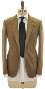 Boglioli 'Coat' Suit 2B Cotton Stretch 36 46 Brown Solid 24SU0111