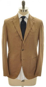 Boglioli 'Coat' Suit 3B Cotton Stretch 46 56 Brown Solid 24SU0110