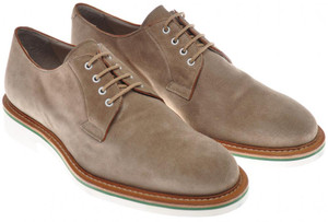 Di Mella Derby Shoes Suede Leather 9 UK 10 US Brown 52SO0101