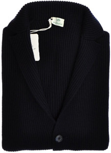 Luigi Borrelli Sweater Cardigan Sport Coat Wool 46 XSmall Blue 05SW0120