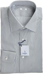 Barba Napoli Luxury Dress Shirt Cotton Stretch 18 45 Gray Stripe 11SH0129