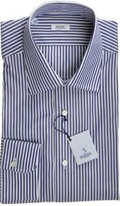 Barba Napoli Luxury Dress Shirt Cotton 16 41 Blue Stripe 11SH0122