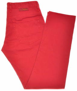 Incotex Jeans Pants Cotton Stretch 34 50 Washed Red 28JN0115