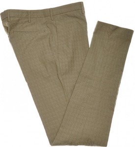 Incotex Casual Dress Pants Cotton Stretch 36 52 Brown Check 08PT0162
