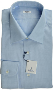 Barba Napoli Luxury Dress Shirt Cotton 17 43 Blue Fancy 11SH0136