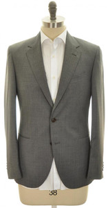 Boglioli 'Crespi' Sport Coat Jacket 2B Wool 38 48 Gray Solid 24SC0184