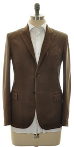 Boglioli 'Casati' Sport Coat Jacket 2B Cotton Stretch 38 48 Brown 24SC0208