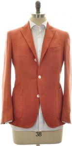 Boglioli 'Dover' Sport Coat Jacket Silk 38 48 Orange Herringbone 24SC0203