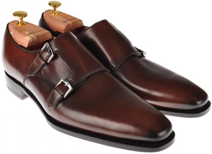 Kiton Shoes Monk Strap Leather 10 UK 11 US Brown 01SO0107