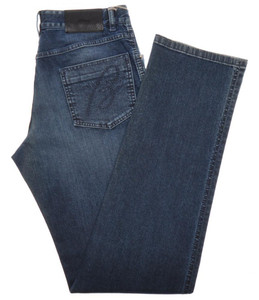 Brioni Denim Jeans 'ROCCARASO' Cotton Stretch 32 48 Washed Blue 03JN0357