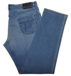 Brioni Denim Jeans 'ROCCARASO' Cotton Stretch 41 57 Washed Blue 03JN0356