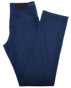 Brioni Denim Jeans 'ROCCARASO' Cotton Silk 32 48 Washed Blue 03JN0355