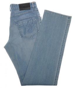 Brioni Denim Jeans 'ROCCARASO' Cotton Stretch 32 48 Washed Blue 03JN0352