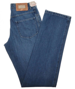 Brioni Limited Edition Denim Jeans 'LAAX' Cotton 32 48 Blue 03JN0348