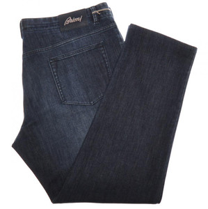 "Brioni Denim Jeans 'Livigno' Cotton Cashmere 42 58 x 29 1/2"" Blue 03JN0368"