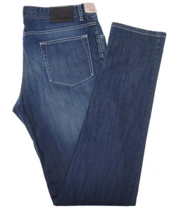 Brioni Denim Jeans 'Meribel' Cotton Stretch 40 56 Washed Blue 03JN0363