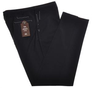 PT01 Pantaloni Torino Traveller Pants Tropical Wool 42 58 Navy Blue PT0125