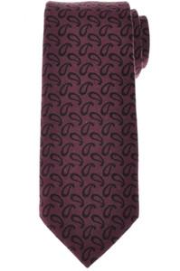 Kiton Napoli Tie Wool 58 1/4 x 3 1/2 Purple Black Paisley 01TI1010