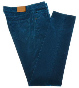 Boglioli Jeans Cotton Stretch Corduroy 32 48 Teal Blue 24JN0102