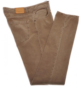 Boglioli Jeans Cotton Stretch Moleskin 32 48 Washed Brown 24JN0101