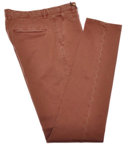 Boglioli Pants Cotton Stretch 32 48 Washed Brown-Rust 24PT0108