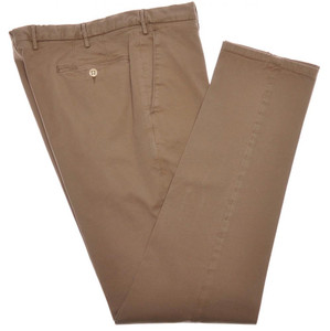 Boglioli Pants Cotton Twill Stretch 36 52 Washed Brown 24PT0103