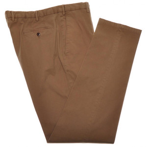 Boglioli Pants Cotton Stretch Twill 38 54 Washed Brown 24PT0113