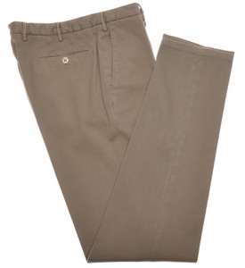 Boglioli Pants Cotton Stretch 32 48 Washed Brown 24PT0117
