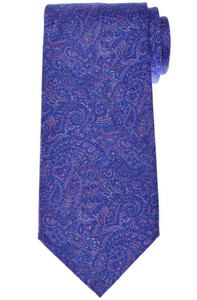 Stefano Ricci Luxury Tie Silk 59 3/4 x 3 5/8 Purple Blue Paisley 13TI0606