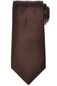 Stefano Ricci Luxury Tie Silk 61 x 3 5/8 Brown Black Solid 13TI0627