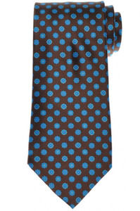 Stefano Ricci Tie Silk 61 x 3 5/8 Brown Blue Geometric 13TI0618