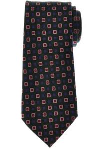 Cesare Attolini Wool Tie 59 1/4 x 3 1/4 Green Blue Geometric 09TI0178