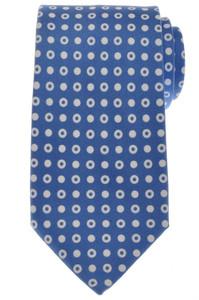 Ermenegildo Zegna Tie Silk 59 x 3 1/4 Blue White Geometric 10TI0188