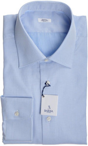 Barba Napoli Dress Shirt Cotton 17 43 Fancy Blue Geometric 11SH0174