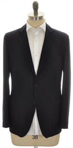 Belvest Sport Coat Jacket 2B 100% Cashmere 40 50 Navy Blue 50SC0147