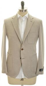 Belvest Sport Coat Jacket 3B Silk Cotton 38 48 Brown White Check 50SC0157