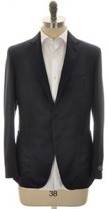 Belvest Sport Coat Jacket 2B Hopsack Wool 40 50 Blue Solid 50SC0155